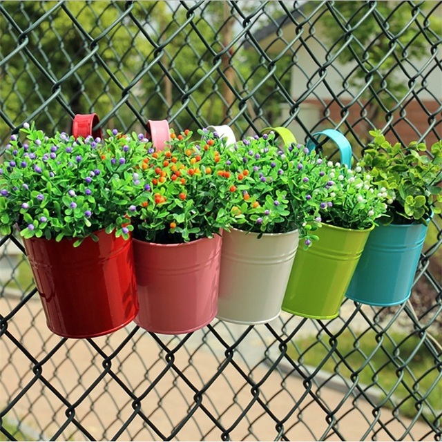 New solid color diy garden hanging planters wall baskets pot hanging new solid color diy garden hanging planters wall baskets pot hanging basket flower pot plastic iron workwithnaturefo