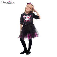 Umorden New Arrival Halloween Costumes for Girl Girls Sweet Skull Dress Costume Fantasia Cosplay