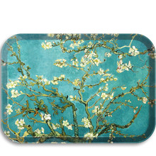 Serving-Tray Platters Scandinavian-Style Melamine Safety Food-Tray Rectangular Fast High-Class