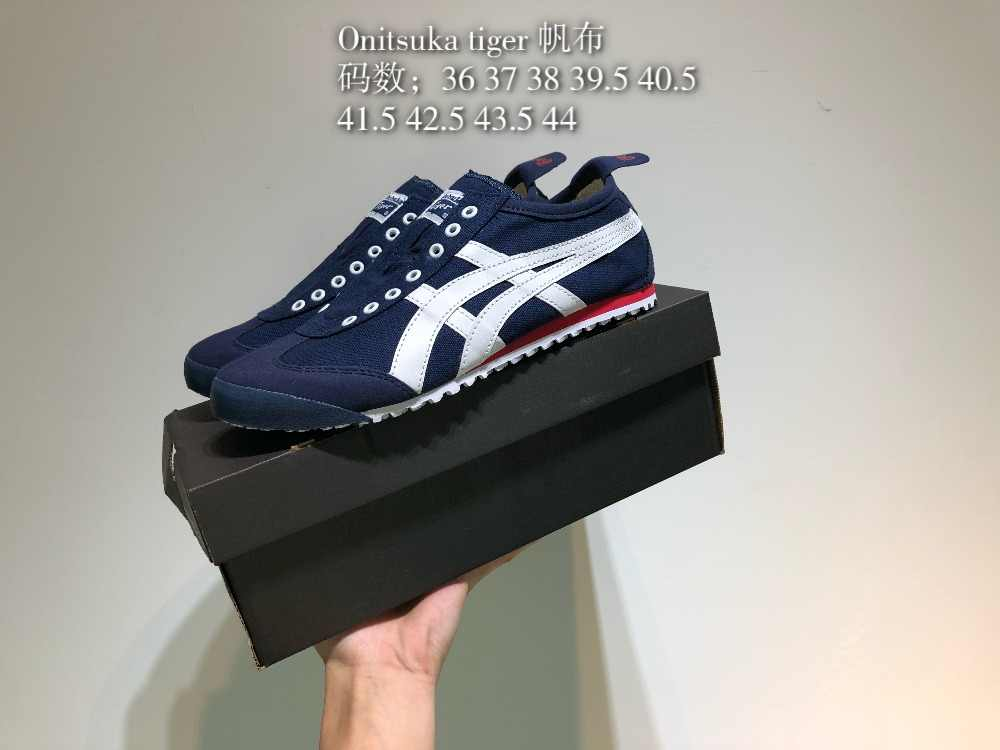 check out 1e409 138ea ONITSUKA TIGER Men's and Women's Canvas Leisure Badminton Shoes