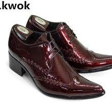 Модная мужская обувь с острым носком; Повседневная Деловая обувь в британском стиле с кружевом; весенняя обувь на массивном каблуке; обувь на низком каблуке