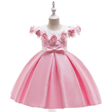Summer Kids Dresses For Girls Princess Wedding Party Dress Pageant Costume Children Clothes Girls Elegant Flowers Cute Dress