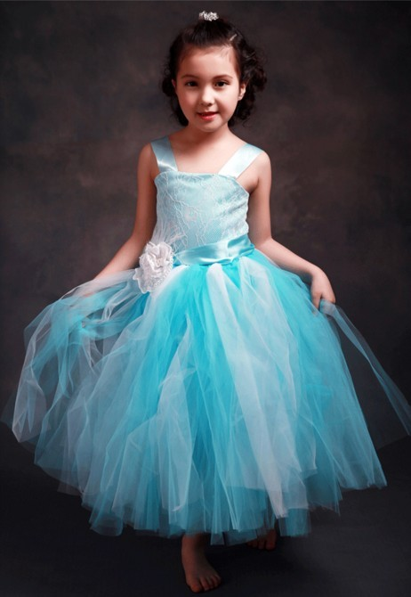 синий платье для девочек с цветочным узором детское праздничное бальное платье принцессы на выпускной формальный повод давно перешагнула сзади платье