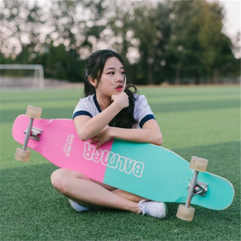 Professional Maple Complete Skateboard Longboard Adult Road Street Dancing Downhill Drift Skate Board Longboard Dancing board koston lb293 silk road dancing style 44 inch completed longboard