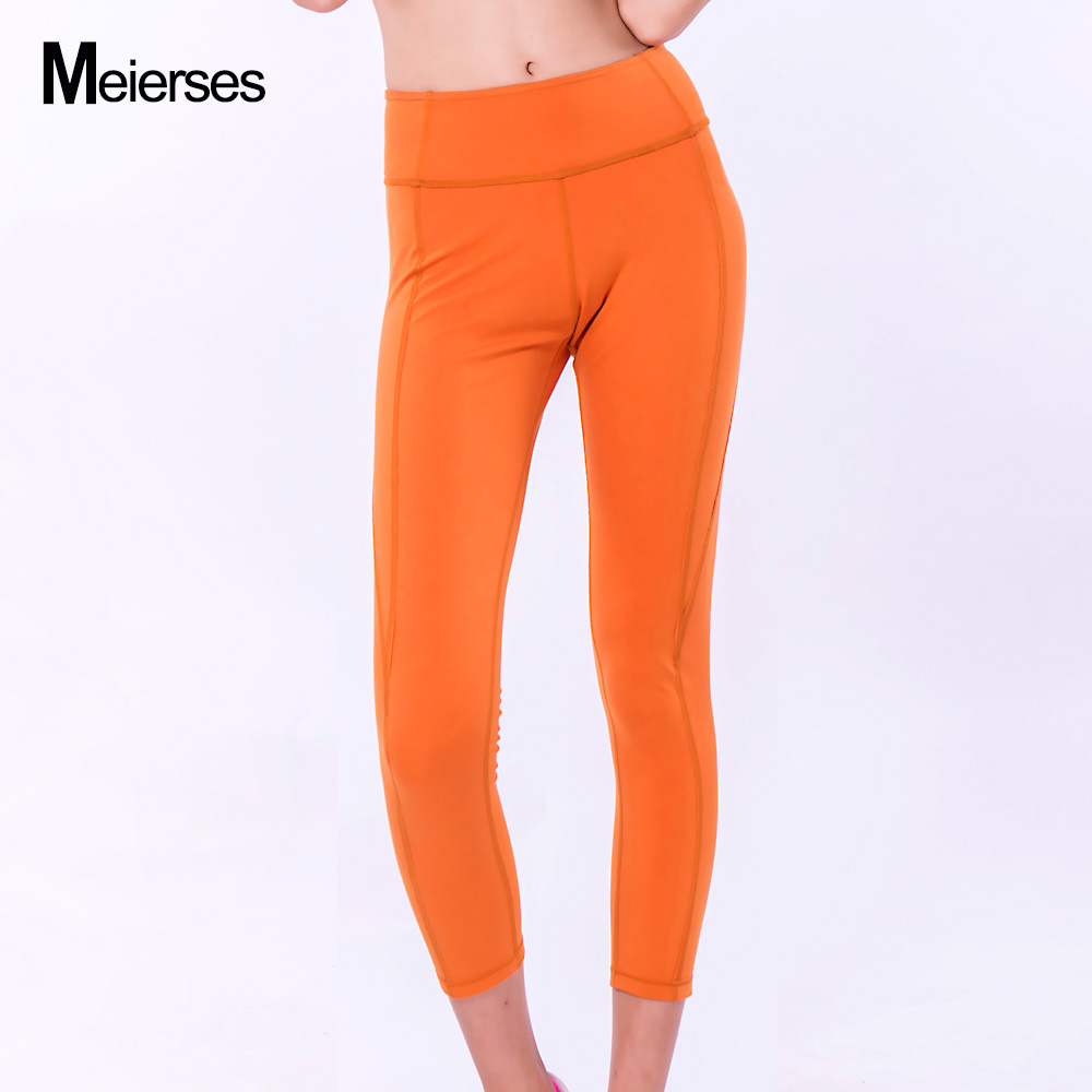 dac21d5317a 2019 MEIERSES Yoga Pants Fitness High Waist Elastic Women Leggings 3 ...
