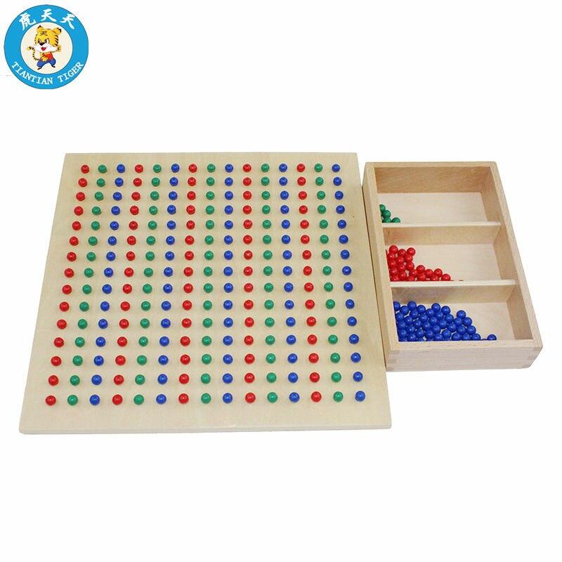 Montessori maths enfants jouets apprentissage éducation jeux préscolaire matériel d'enseignement petit carré racine conseil
