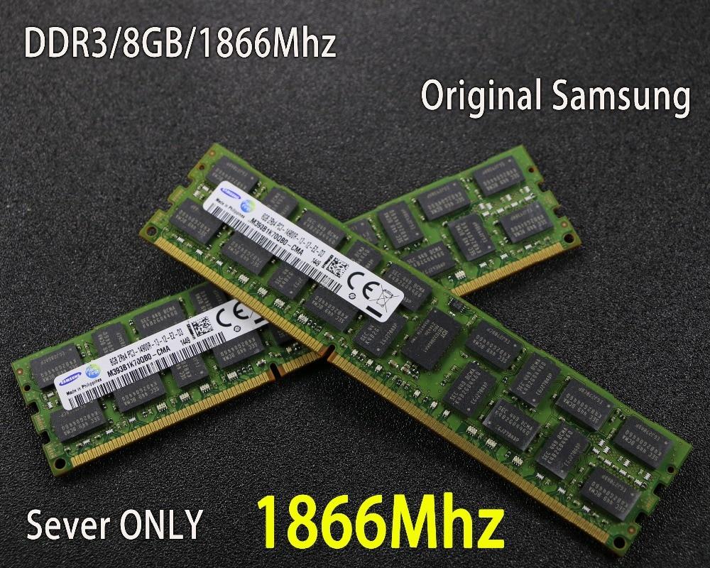 original Samsung 8GB DDR3 1333MHz 1600Mhz 1866Mhz 8G 1333 1600 1866 REG ECC server memory RAM work 16gb 24gb 16g 24g 32gb 32g jzl memoria pc3 10600 ddr3 1333mhz pc3 10600 ddr 3 1333 mhz 8gb lc9 240 pin desktop pc computer dimm memory ram for amd cpu