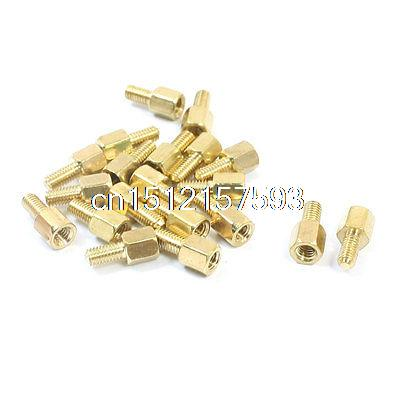 20Pcs Male/Female Thread Brass PCB Hexagonal Standoff Spacer M3 x 5mm x 11mm m2 3 3 1pcs brass standoff 3mm spacer standard male female brass standoffs metric thread column high quality 1 piece sale