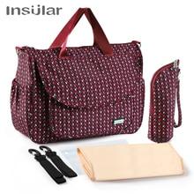 Вместительная сумка для детских подгузников для мам, вместительная сумка для детских подгузников, водонепроницаемая сумка для смены в путешествии