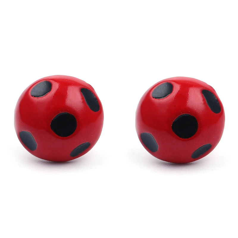 Miraculous Ladybug Stud Earrings the Metal Circle Animal Earrings for Girls Cat Noir Miraculous Ladybug Anime Jewelry Wholesale