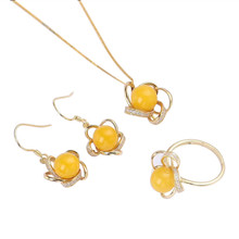 gemstone factory wholesale fashionable yellow gold 925 sterling silver natural amber earring pendant necklace rings jewelry set gemstone jewelry factory wholesale white yellow gold color 925 sterling silver natural amber charm pendant necklace for female