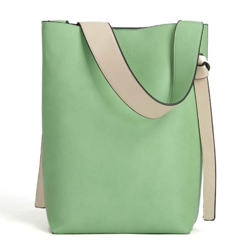 Bolsos de diseño de alta calidad bolsos de mano de cuero de gran capacidad verde
