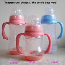 Arrivée bouteille d'alimentation pour bébé 150,240,320Ml, bouteille en PP avec poignée, biberon d'allaitement de calibre Standard, biberon pour lait maternel, mamelon