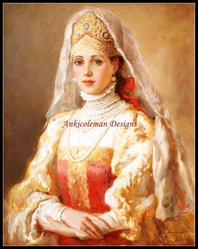 Needlework for embroidery DIY DMC High Quality - Counted Cross Stitch Kits 14 ct Oil painting - Russian Beauty