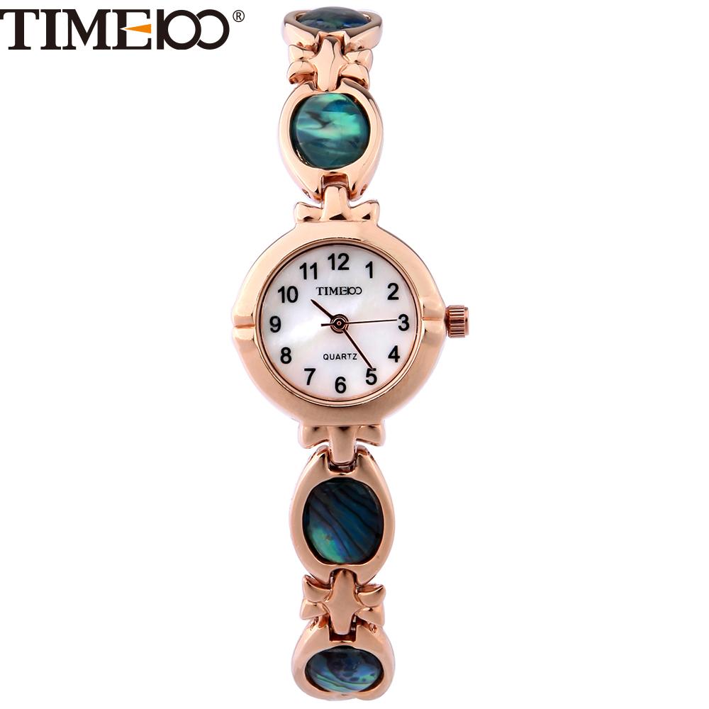 Prix pour TIME100 Mode Simple Femmes Bracelet Montres Étanche Petit Cadran Bracelet Abalone Quartz Montres Dames Montres Horloge