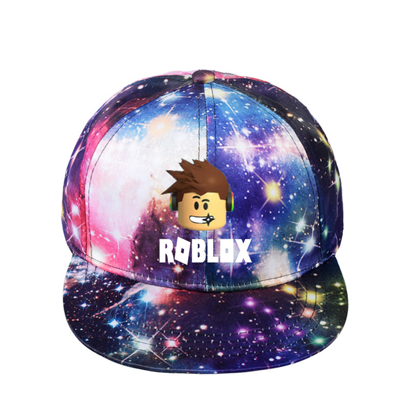Kids Summer Cute Galaxy Caps Game Roblox Cap Unisex Casual