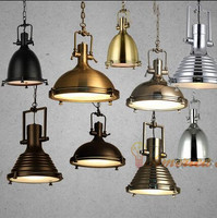 Heavy Metal Cafe Chandeliers Modern Post Industrial Retro Bar Restaurant Material Iron E27 AC110 240V