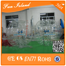 Cheap price! 1.7m funny top quality inflatable bubble football/soccer,human plastic ball free shipping