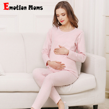 Emotion Moms Breastfeeding Pajama Cotton Long Sleeve Maternity Nursing Pajamas Set Nightgrown Sleepwear Pregnancy Pyjamas Autumn