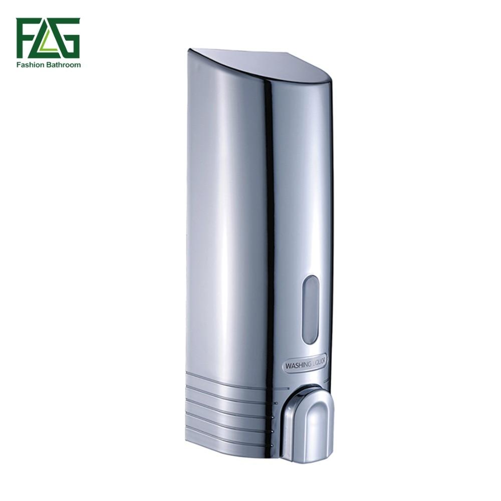FLG Neue ABS Kunststoff 380 ml Wand Befestigte Seifen Sanitizer Badezimmer Waschraum Dusche Shampoo Spender Flüssigseife Spender 9050C
