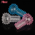 3pcs Silicone Finger Cock Rings Penis Sleeve Stretchy Spiny Condom Sex Toys for Couples G-spot Clitoris Stimulator Erotic Toys