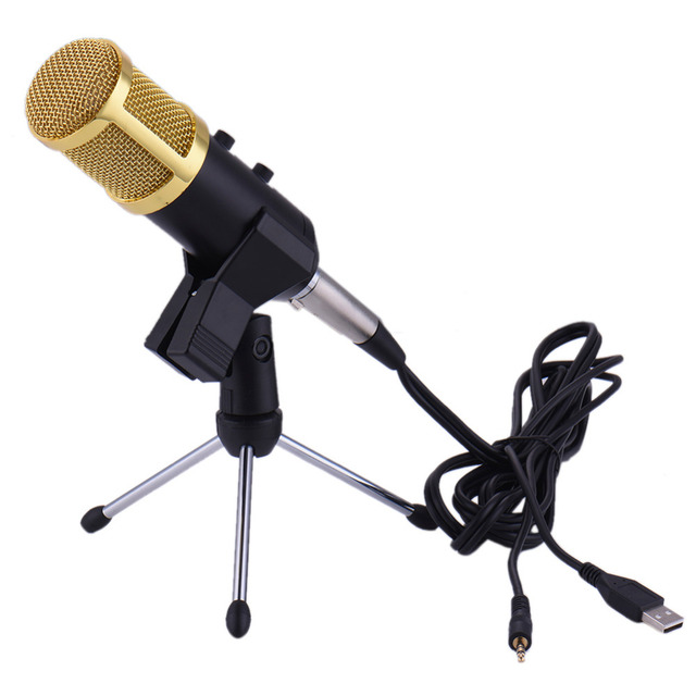 USB Microphone Wired Reverberation Microphone for Computer Network sing/Recording/Video Conference/Games microfone condensador