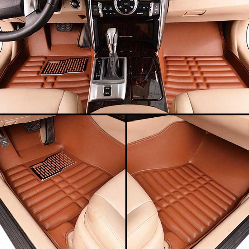 Tapetes Do Carro de couro Para Honda Accord 2003 2004-2015 2016 2017 2018 Personalizado Almofadas Do Pé Tapete Do Automóvel Do Carro cobre