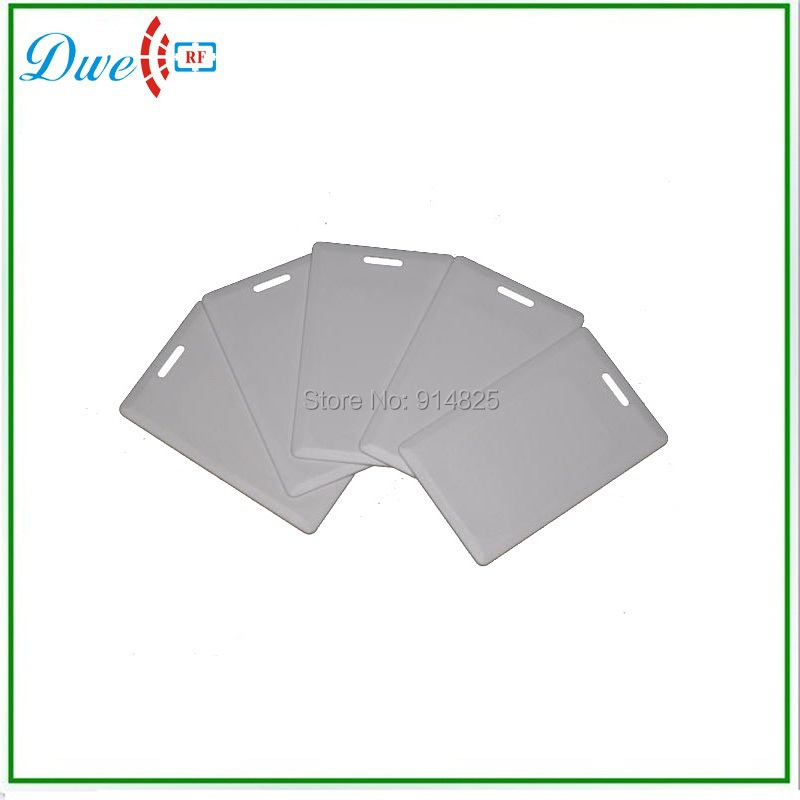 DWE CC RF 50pcs/lot 125khz EM4200 clamshell rfid card reading range 70 to 100cm for car parking system hot sale automatic rfid card ticket vending issuing machine for intelligent parking system
