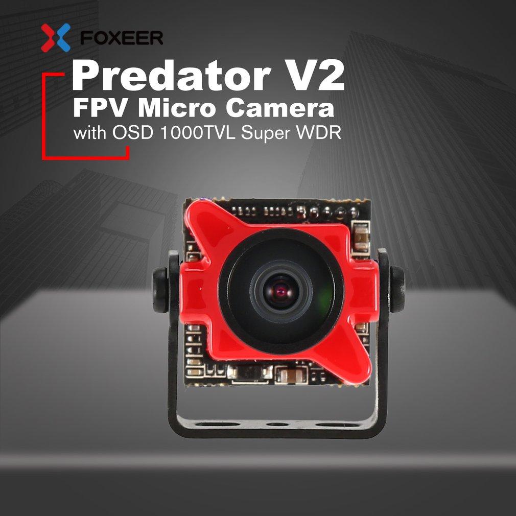 Foxeer Predator V2 FPV Micro Camera CMOS NTSC Cam with 1.8mm OSD 1000TVL Super W