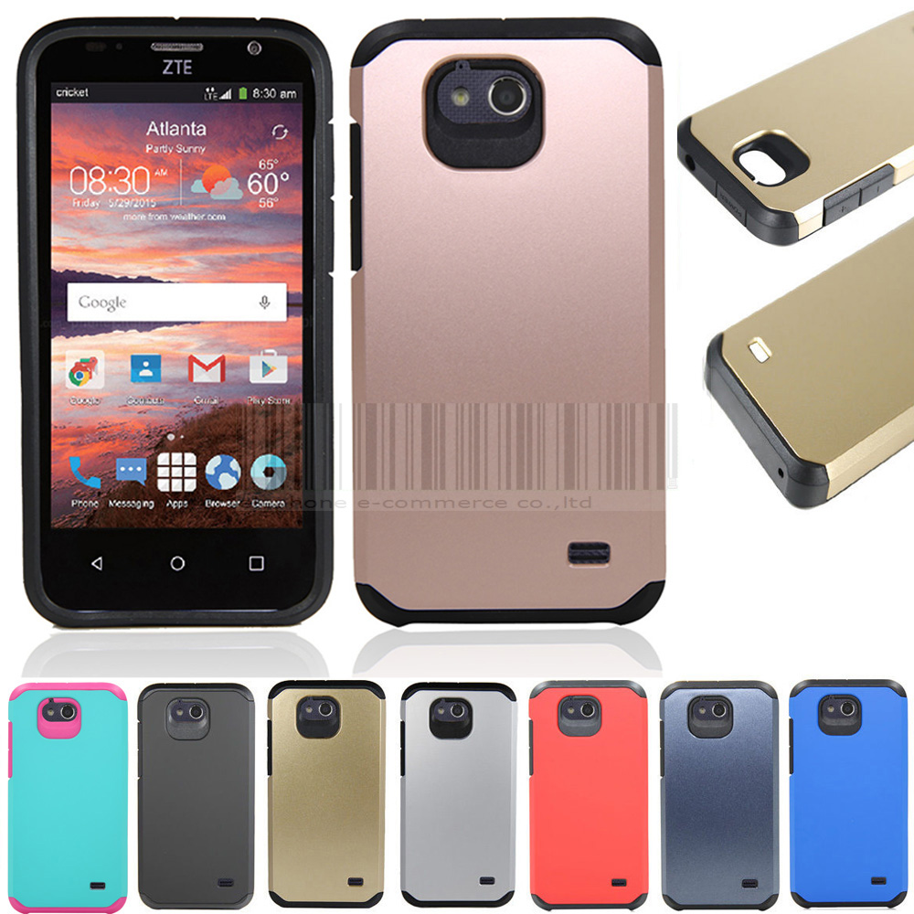 huge discount 373ec 44768 US $2.54 15% OFF|Slim Hybrid Shockproof Armor Case Hard Protective Cover  For ZTE Overture 2/Fanfare/Maven Z812-in Fitted Cases from Cellphones & ...