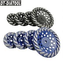 DT-DIATOOL 1 шт. диаметр 100/115/125/180 мм Алмазный Сегментированная турбина Cup шлифовальные круги для бетона Гранит с M14 или 5/8-11 нить