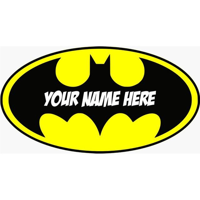 Gepersonaliseerde Batman Logo Sticker Verwijderbare Muursticker