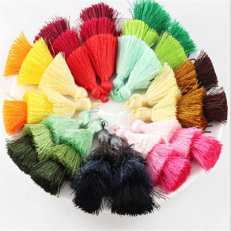 new charms mixed color 3 layer tassel cotton silk tassel Trim for Earring Findings jewelry making DIY Materials Accessories