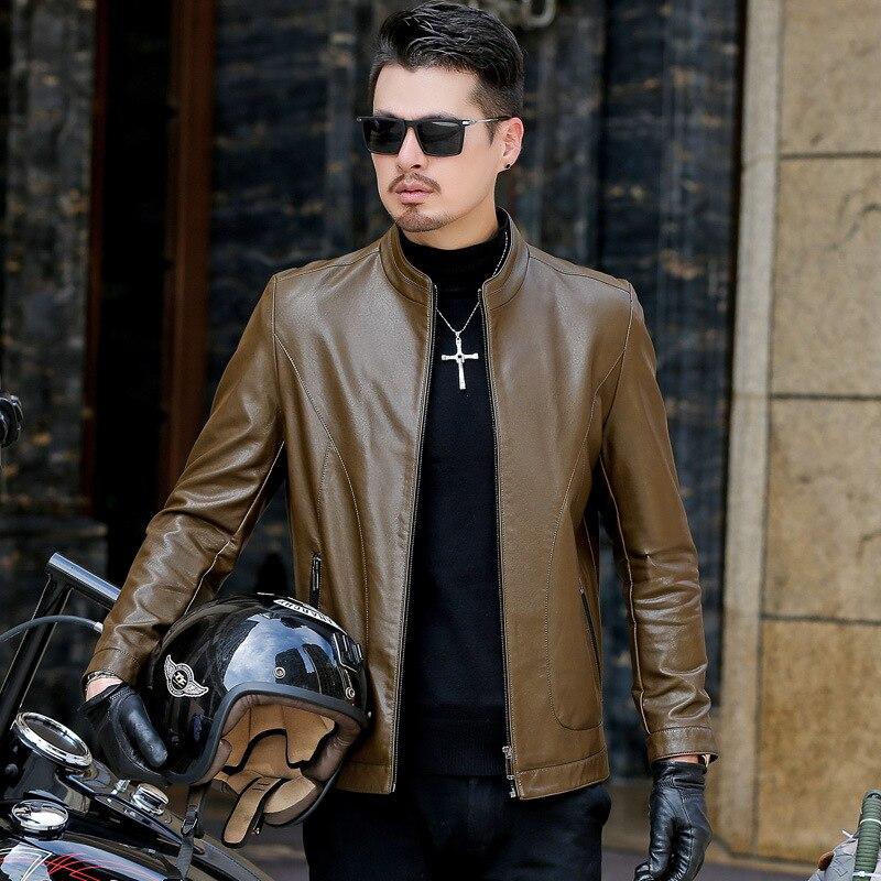 En Britannique Hombre D'hiver Casual 2018 Vêtements See Hommes Col Biker Veste Chaqueta Silm Manteau Chart Cuero Stand Chart see Moto Cuir nXS6dvx60