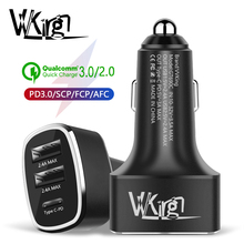VVKing Fast Car Charger Type C USB PD 3.0+4.8A 42W Charge For Huawei Samsung iphone ipad Xiaomi Phone Charging