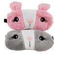 1 unid Lindo Conejito Relajante de Hielo o una Compresa Caliente Visera Dormir Máscara Máscara Negro Venda en Los Ojos para Sleeping-MSK05