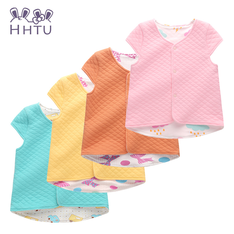 HHTU Child Cotton Outerwear Waistcoat Casual Clothes Baby Vest for Children Clothing Warm Vest Spring Autumn