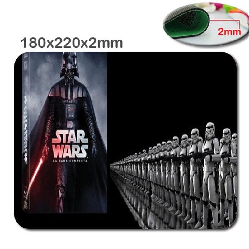 220 мм * 180 мм * 2 мм DIY Звездные войны Индивидуальные Прямоугольник нескользящей резиновой 3D HD печать игровой прочный резиновый ноутбук коврик ...