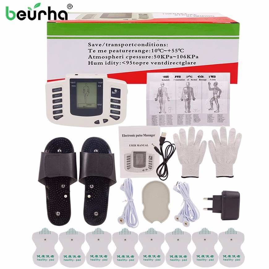 Body Muscle Massager Electro Stimulator Muscular Relax Pulse Tens Acupuncture Therapy Slipper Glove Electrode Pad Slimming Train ролик kraftool 1 02007 25