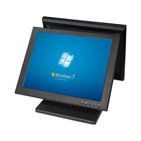 ComPOS Double Side 15 Inch Touch Screen Computer Monitor LED Touch Screen System For Retail Shop