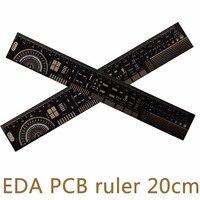 10pcs Lot Multipurpose PCB Ruler EDA Accurate Measuring Tool Reversible Hollowed Out Processing 20CM 7 8