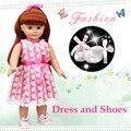 Симпатичные Принцесса Игрушка Brinqnedos Одежда Подходит Для 18 дюймового Мода Американская Девушка Кукла/BJD Куклы Лучший Подарок Для Детей на Рождество