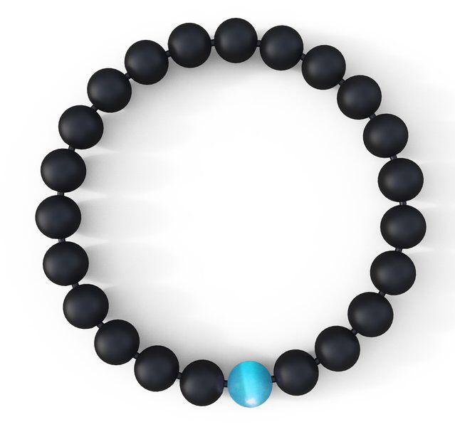 Water Drop Bracelet - Semi-Precious Natural Stones (8mm) - Handmade Genuine Quality Onyx Bracelet
