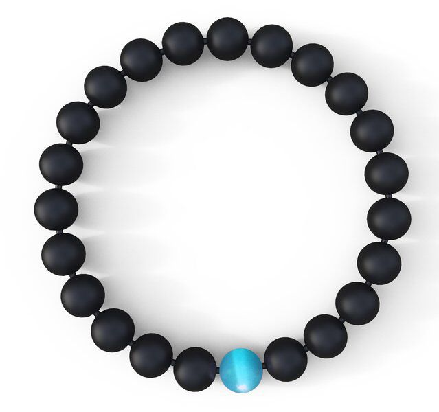 Water Drop Bracelet - Semi-Precious Natural Stones (8mm) - Handmade Genuine Quality Onyx Bracelet