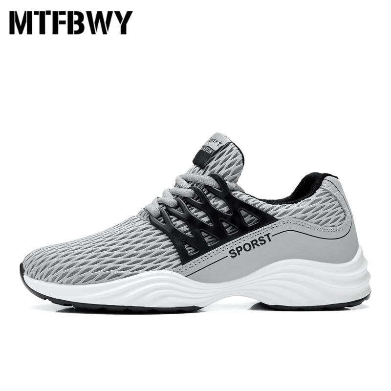 Men's sneakers outdoor running shoes breathable mesh lace-up men sport shoes black white footwear size 39-44 1703s