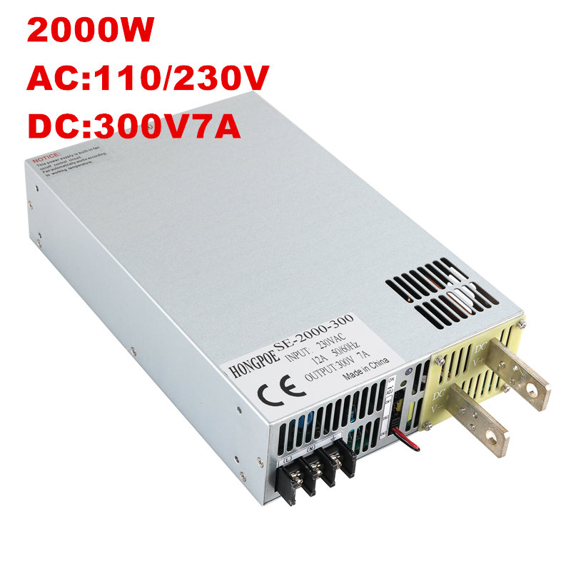 2000W 6A 300V Power Supply 300V 6A Output voltage current adjustable AC-DC 0-5V analog signal control 30-300V2000W 6A 300V Power Supply 300V 6A Output voltage current adjustable AC-DC 0-5V analog signal control 30-300V