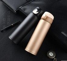 500 mL Edelstahl Thermosflasche für Wasser und Tee Vakuum Isolierte Thermos Tassen Kreative Thermosflasche Thermobecher