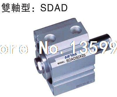 AIRTAC Type Double Rod Type SDADS32-10 Compact Cylinder Double Acting general model cxsm32 50 compact type dual rod cylinder double acting 32 40mm
