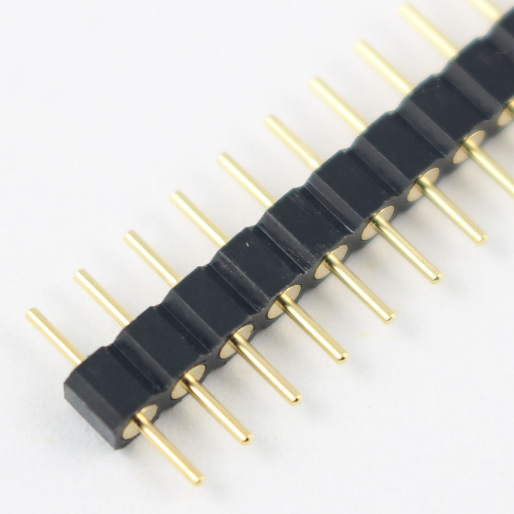 100 Pcs Per Lot Gold Plated 2 54mm Pitch Male Single Row Straight 40 Pin Round