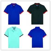 Hot 2019 Brand Vilebre Polo Shirts Men 100% Cotton men's Solid Tops Tees Turtles Bermuda Beach Adult Turndown Collar Swimwear